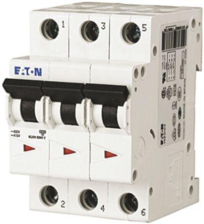Eaton xEffect 63 A MCB Mini Circuit Breaker, 3P Curve D