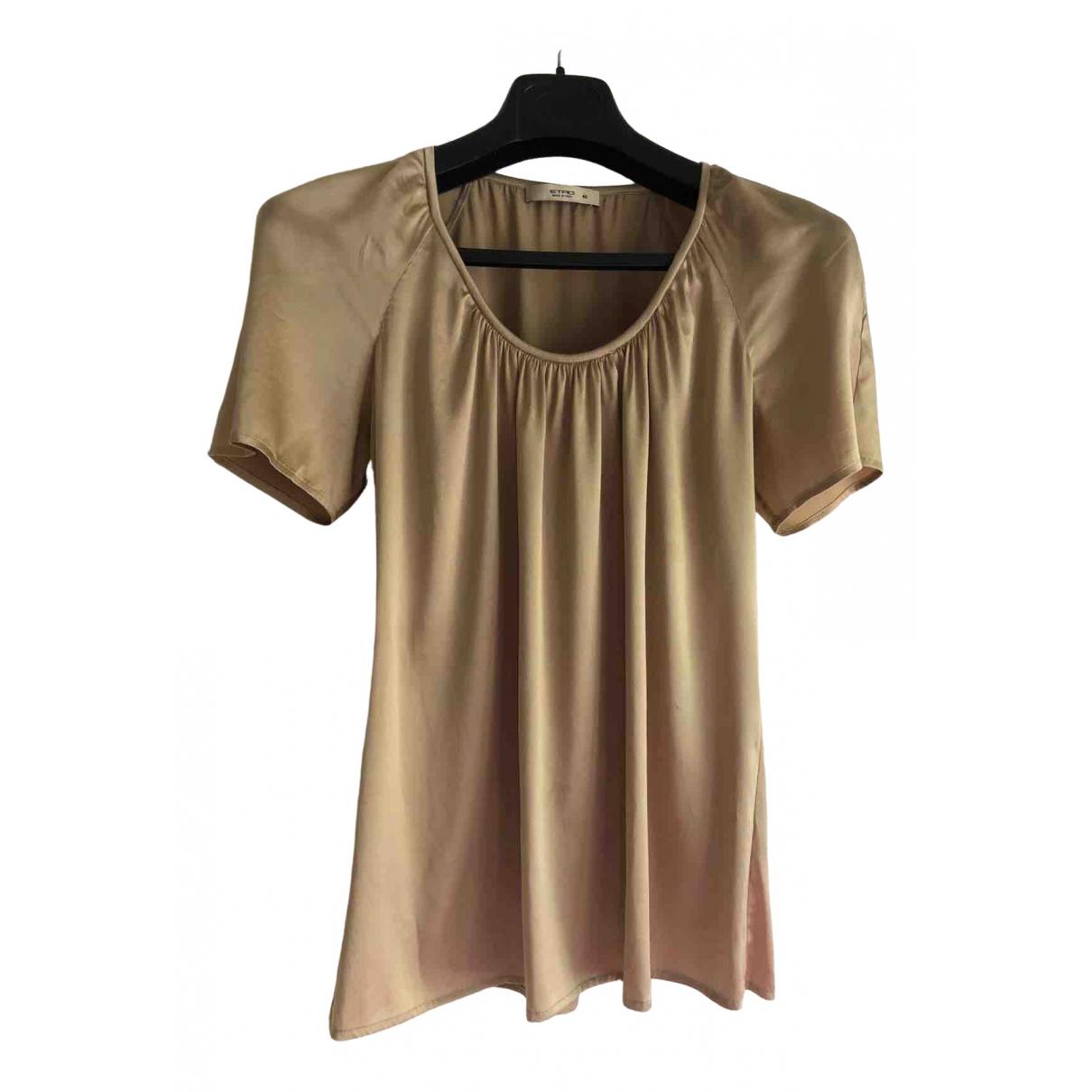 Etro N Camel Silk  top for Women 42 IT