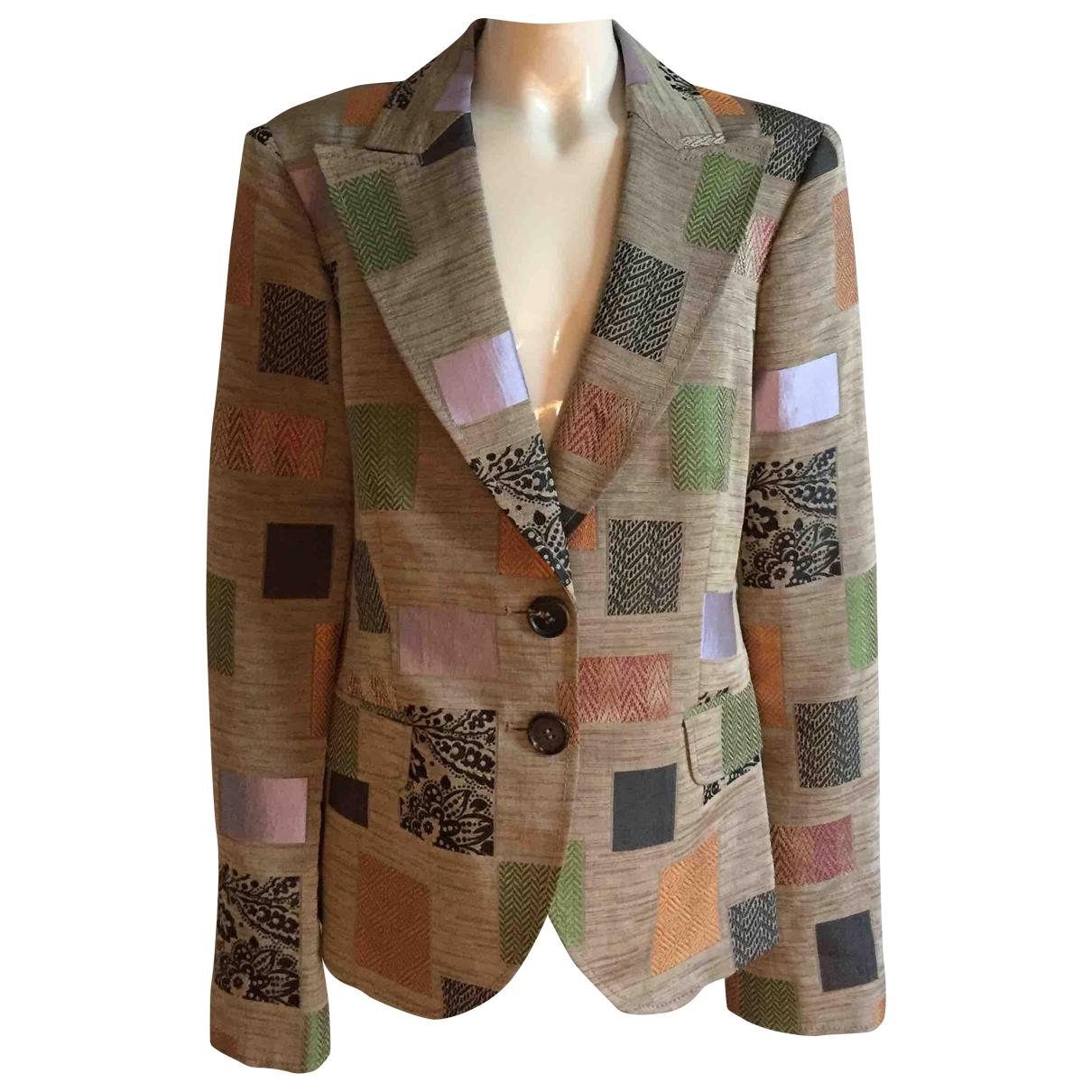 Etro - Veste   pour femme en soie - multicolore