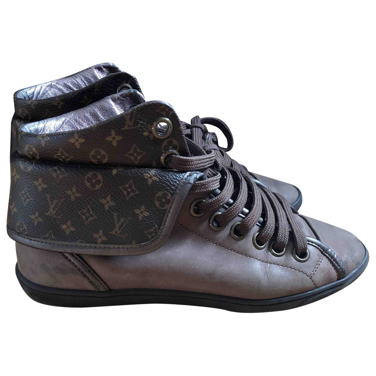 Louis Vuitton - Baskets   pour femme en cuir - marron