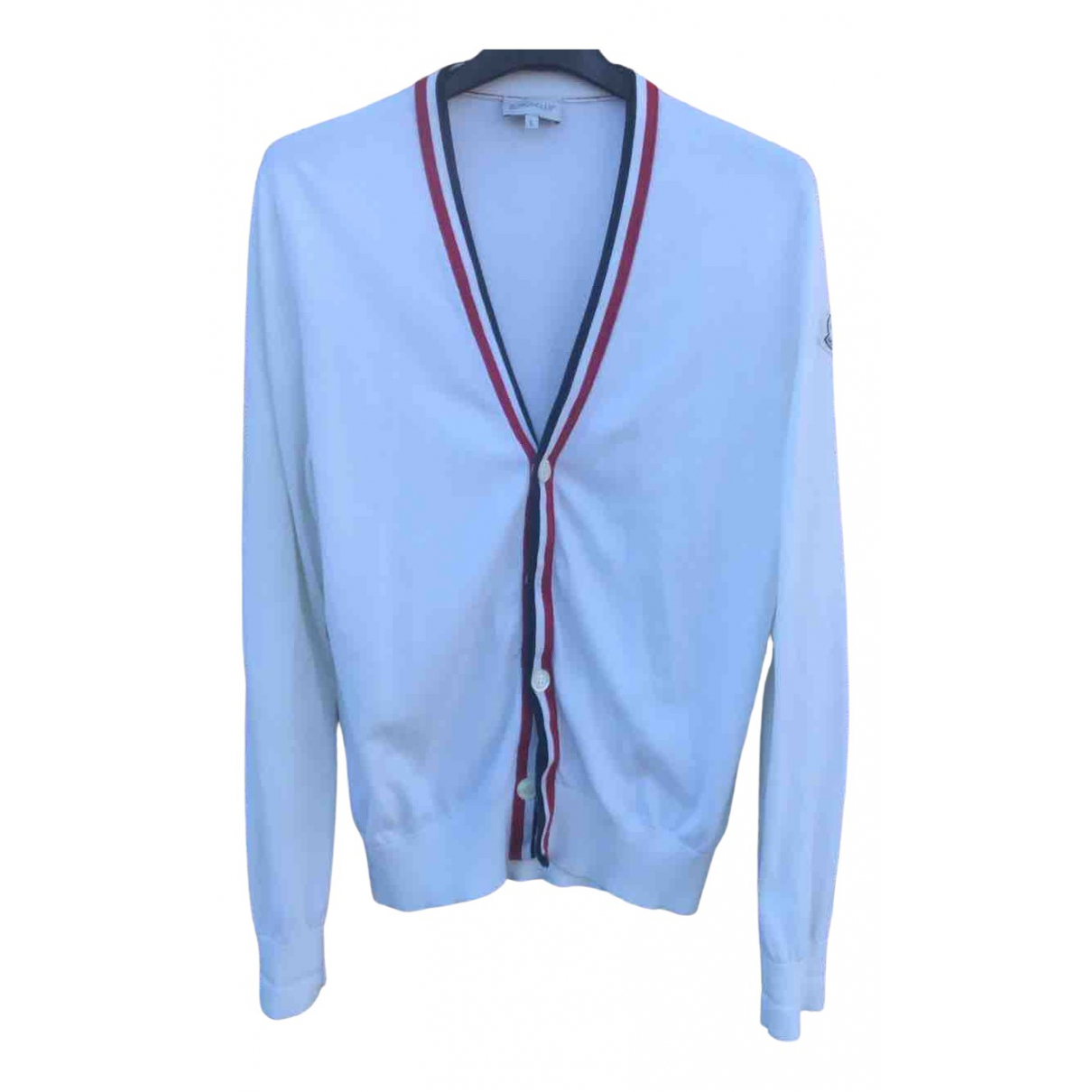 Moncler \N Pullover.Westen.Sweatshirts  in  Weiss Baumwolle
