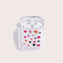 Heart Pattern Clear Airpods Case