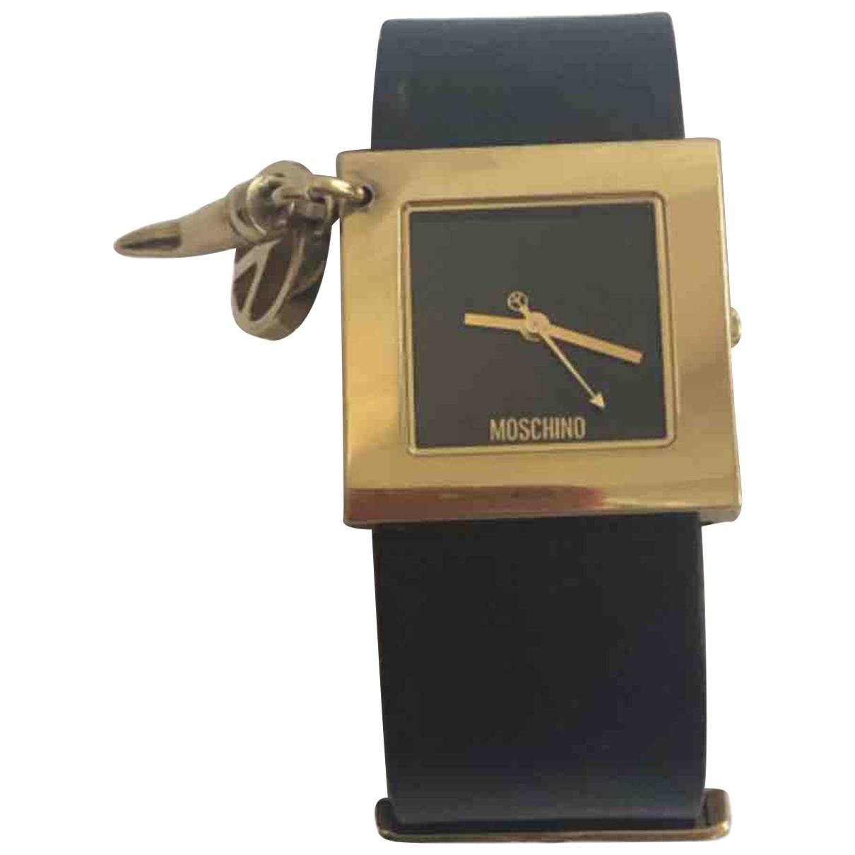 Moschino - Montre   pour femme en acier - noir