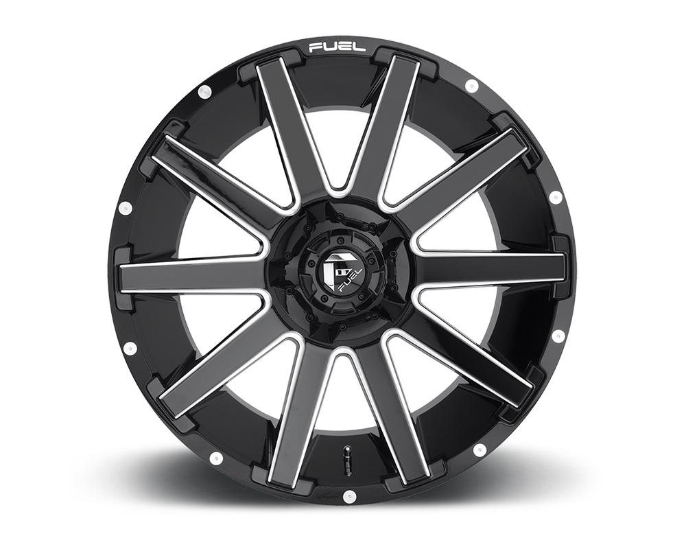 Fuel D615 Contra Gloss Black & Milled 1-Piece Cast Wheel 20x10 6x135|6x139.7 -19mm