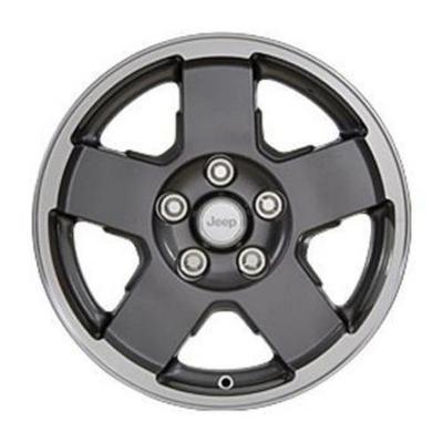 Jeep 2007-2013 Jeep JK Wheel, 17X7.5 with 5 on 5 Bolt Pattern - Gunmetal Gray - 82210355AB