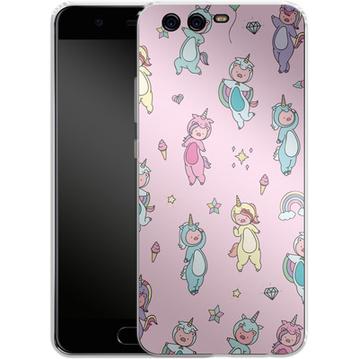 Huawei P10 Silikon Handyhuelle - Piggy Unicorns von Chan-chan