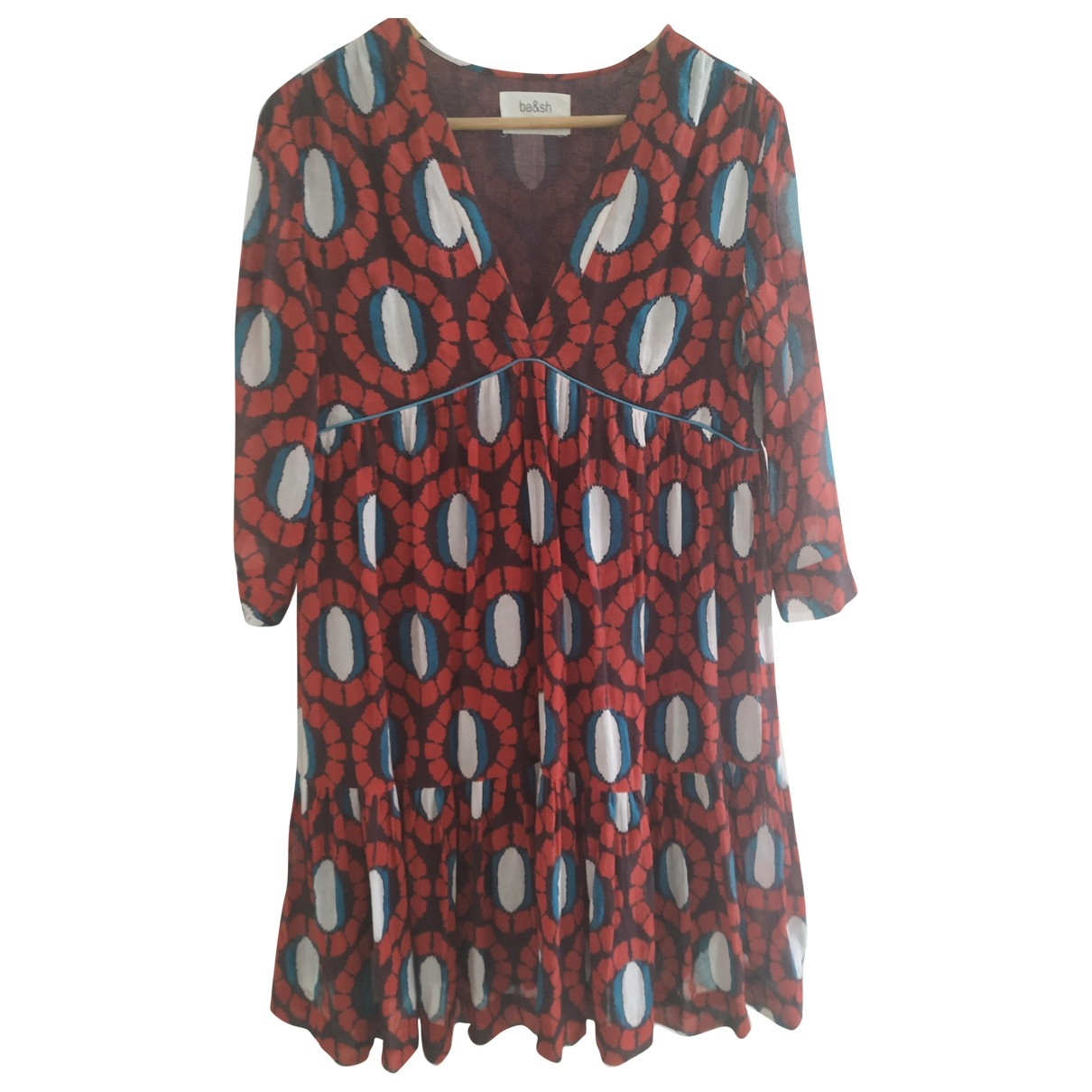 Ba&sh \N Red Cotton dress for Women 0 0-5