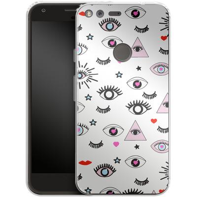 Google Pixel XL Silikon Handyhuelle - Magic Eyes von Mukta Lata Barua