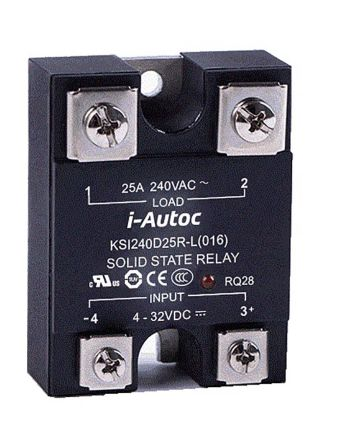 i-Autoc 25 A Solid State Relay, Zero Crossing, Panel Mount, SCR, Triac, 280 V ac Maximum Load