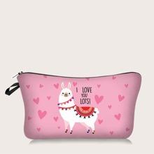 Alpaca Print Makeup Bag