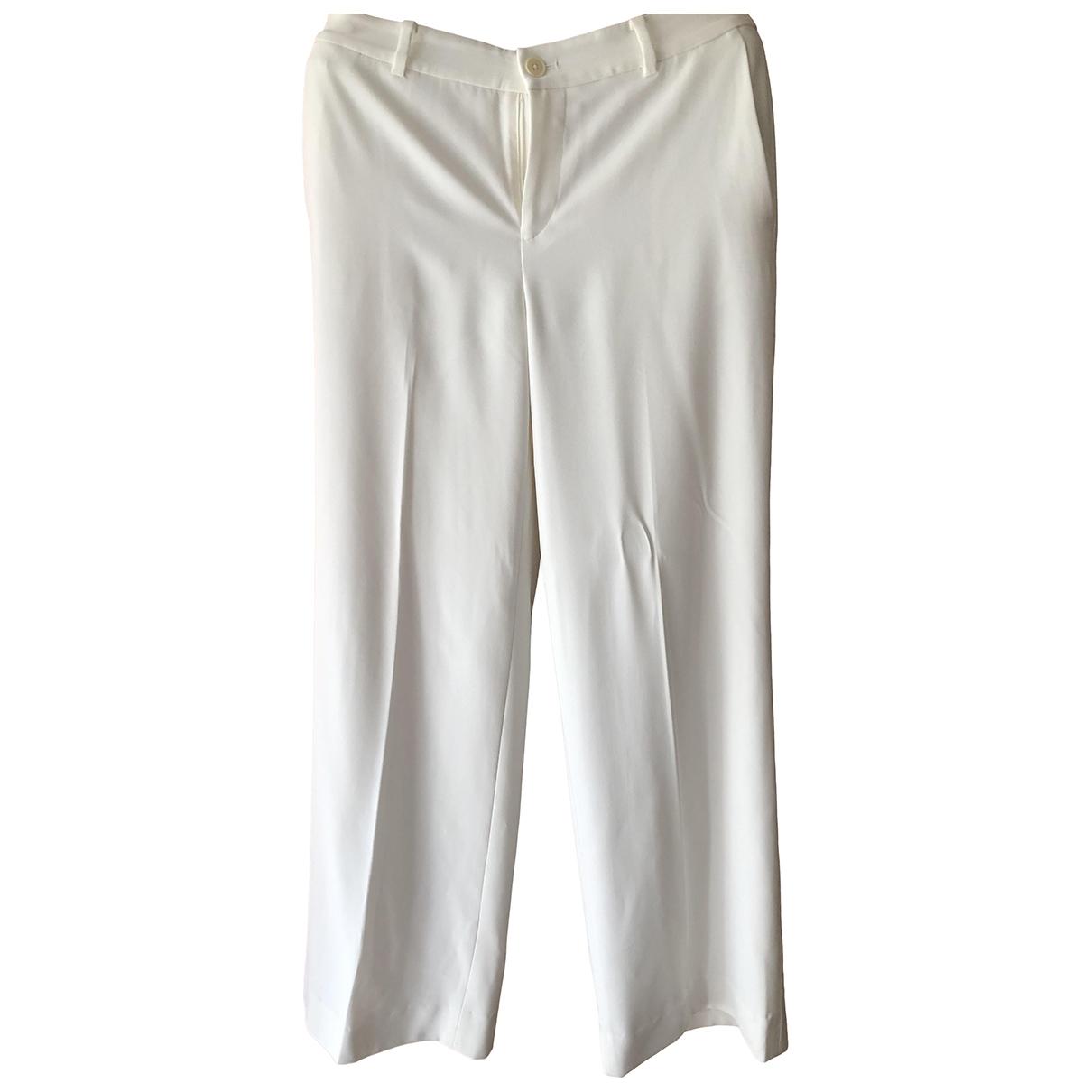 Lauren Ralph Lauren \N Ecru Trousers for Women 6 UK