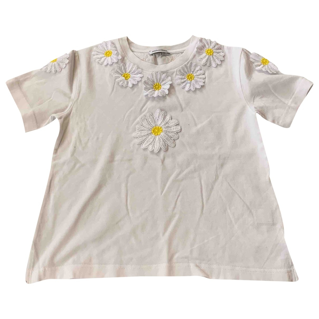 Dolce & Gabbana \N Beige Cotton  top for Kids 6 years - up to 114cm FR