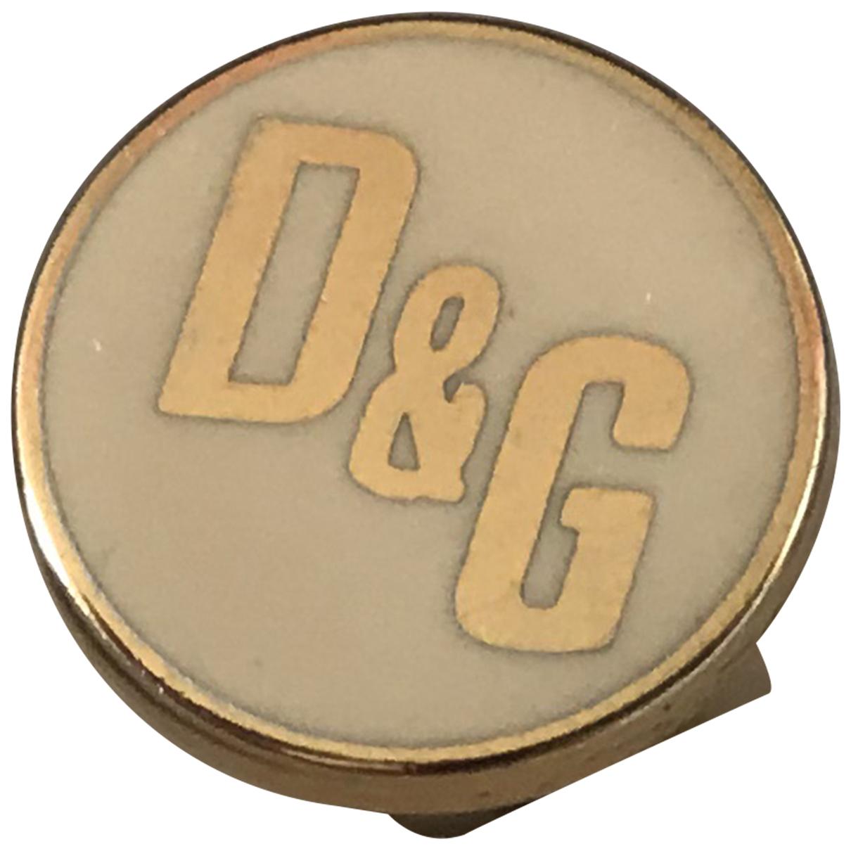 D&g - Boutons de manchette   pour homme en metal - blanc