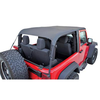 Rampage Frameless Sailcloth Soft Top with Tinted Windows and No Door Uppers (Black Diamond) - 106035