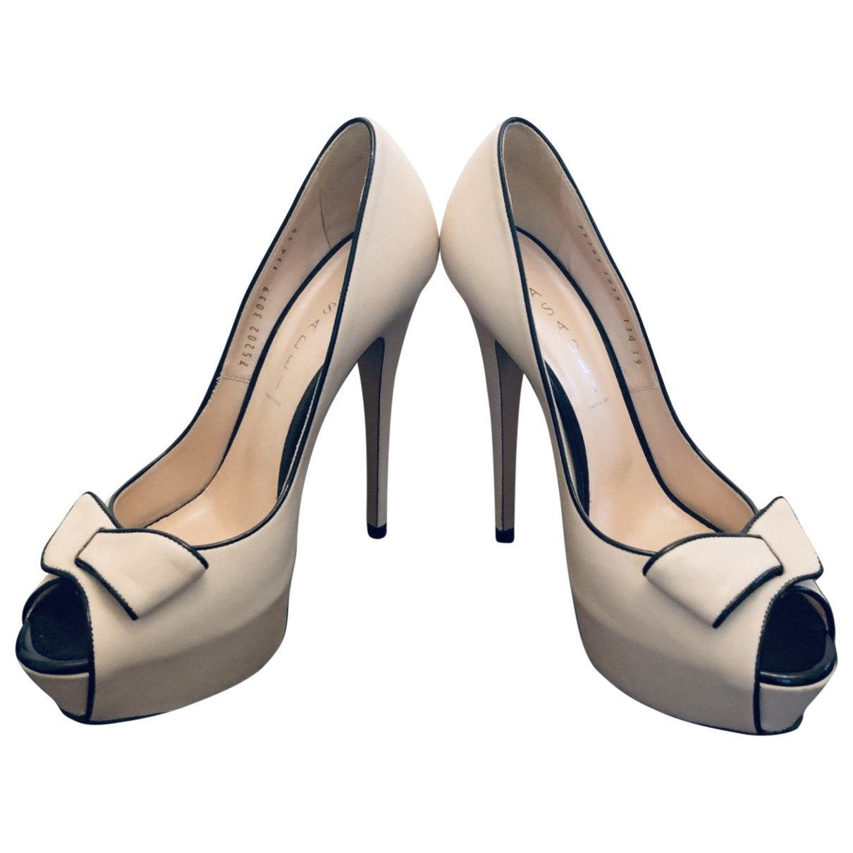 Casadei \N Beige Leather Heels for Women 39 EU
