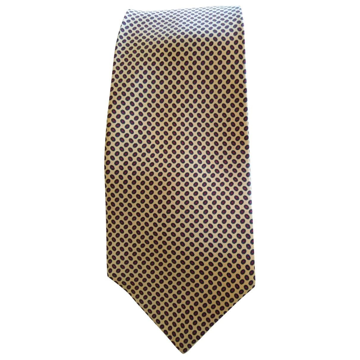 Guy Laroche \N Krawatten in  Gelb Seide