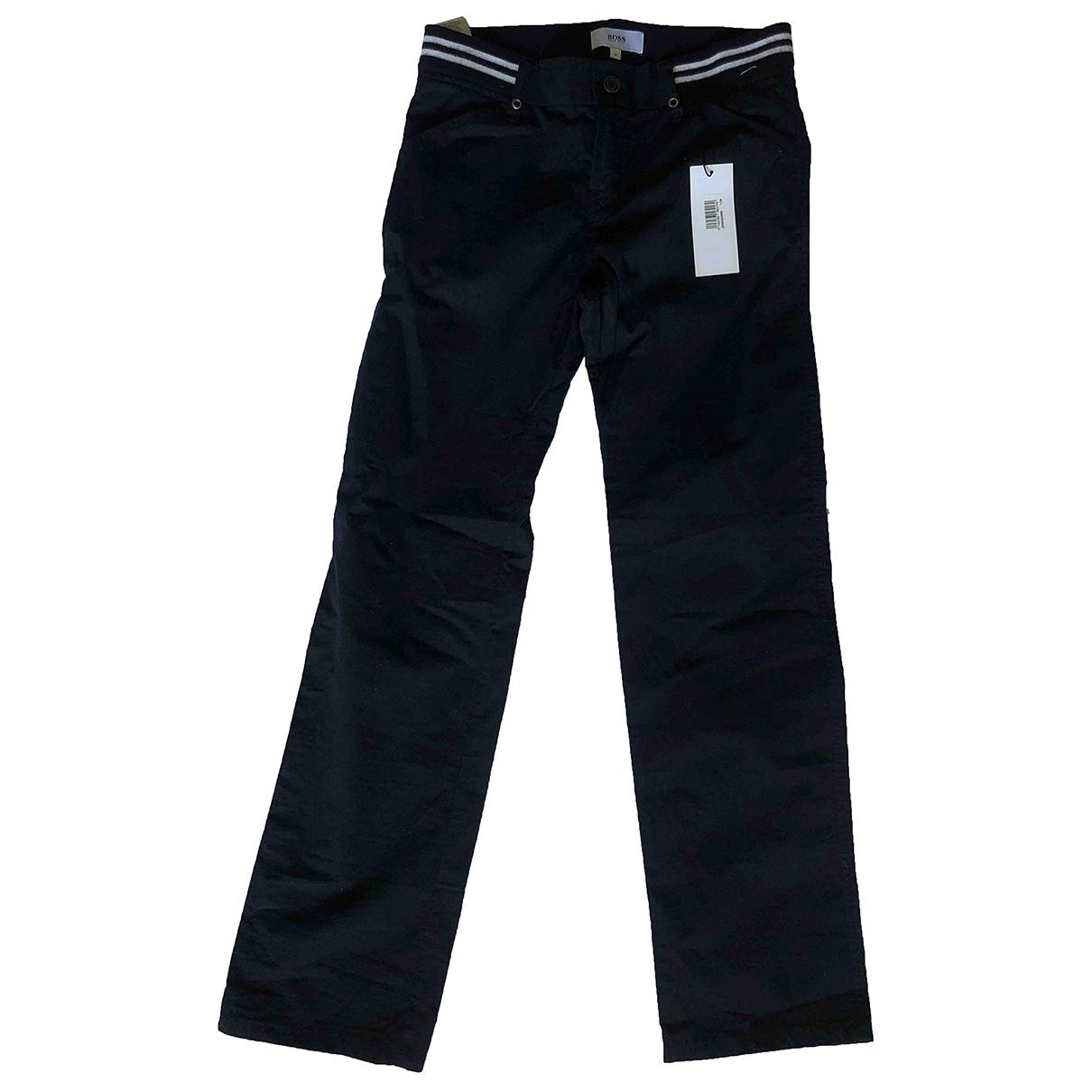 Boss - Pantalon   pour enfant en coton - noir