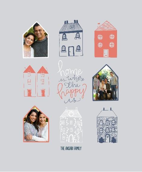 Family + Friends Framed Canvas Print, Oak, 11x14, Home Décor -Happy Homes