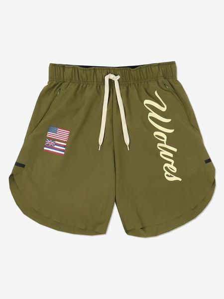 Milanoo Pantalones cortos de entrenamiento para hombres Pantalones cortos estampados con eslogan de entrenamiento de gimnasio