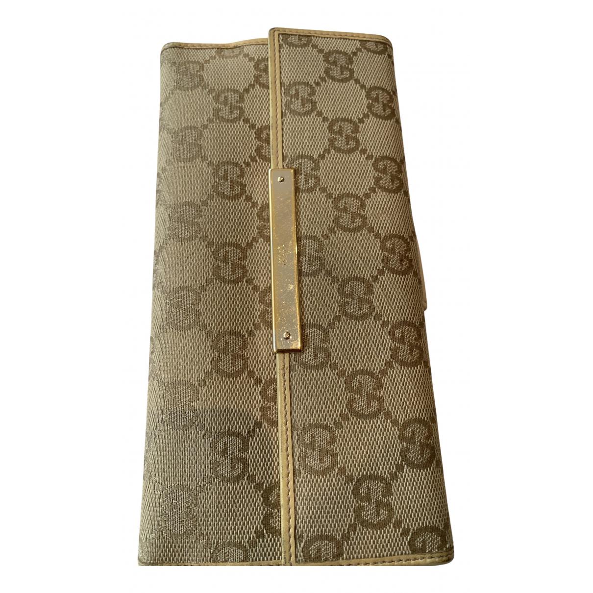 Gucci \N Portemonnaie in  Beige Leinen