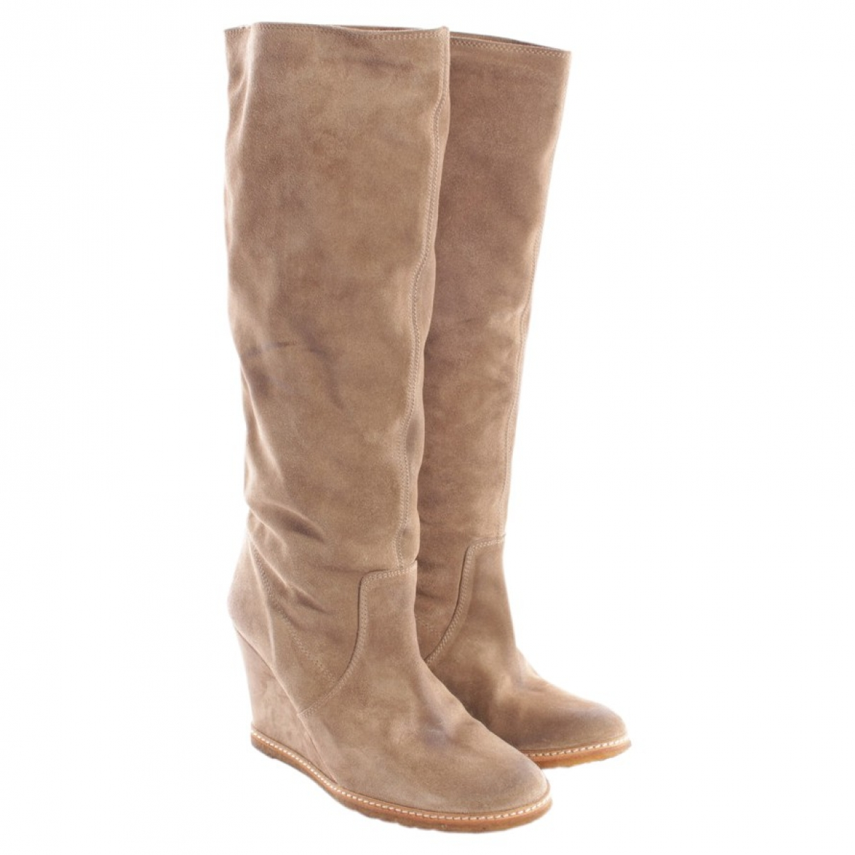 N.d.c. Made By Hand \N Beige Leather Boots for Women 37 EU