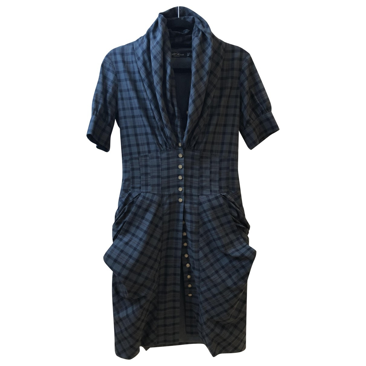 All Saints \N Green Cotton dress for Women 10 UK