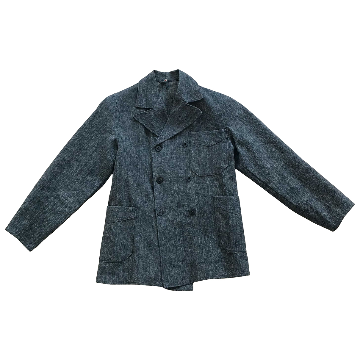 Non Signé / Unsigned \N Brown Linen jacket for Women 42 IT