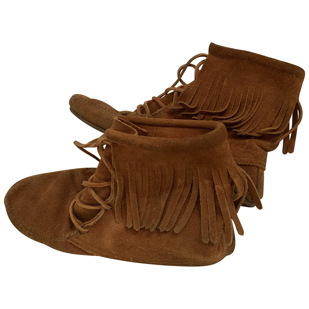 Minnetonka \N Camel Suede Boots for Women 40 EU