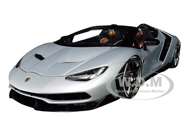 Lamborghini Centenario Roadster Argento Centenario / Matt Metallic Silver 1/18 Model Car by Autoart