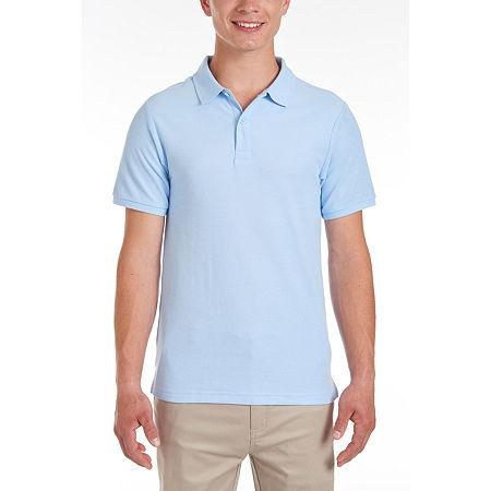 IZOD Young Men's Short Sleeve Polo Shirt, Medium , Blue