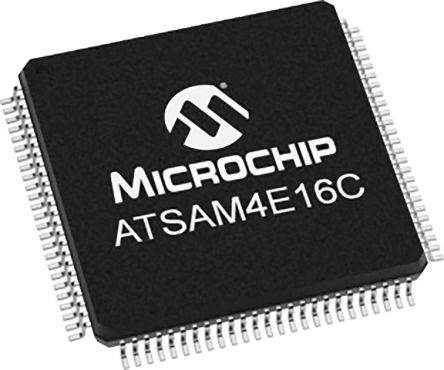 Microchip ATSAM4E16CA-AN, 32bit Microcontroller, ATSAM, 120MHz, 1.024 MB Flash, 100-Pin LQFP (90)