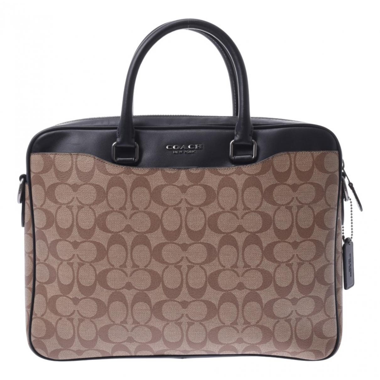 Coach \N Beige Cloth bag for Men \N