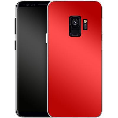 Samsung Galaxy S9 Silikon Handyhuelle - Test Red von caseable Designs