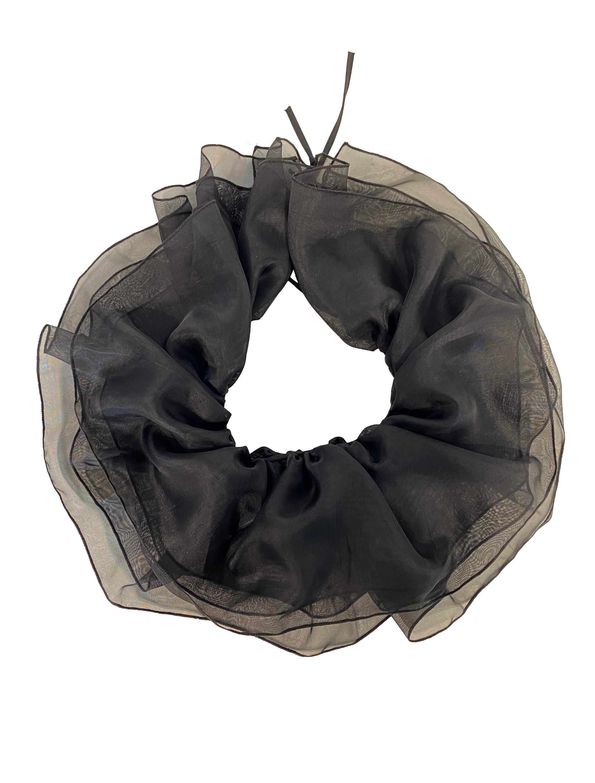 Kostuemzubehor Halskrause schwarz aus Tuell