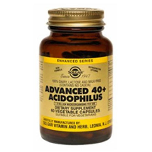 Advanced 40+ Acidophilus Vegetable Capsules 120 V Caps by Solgar