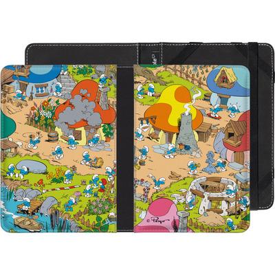 Sony Reader PRS-T1 eBook Reader Huelle - Smurf Village von The Smurfs