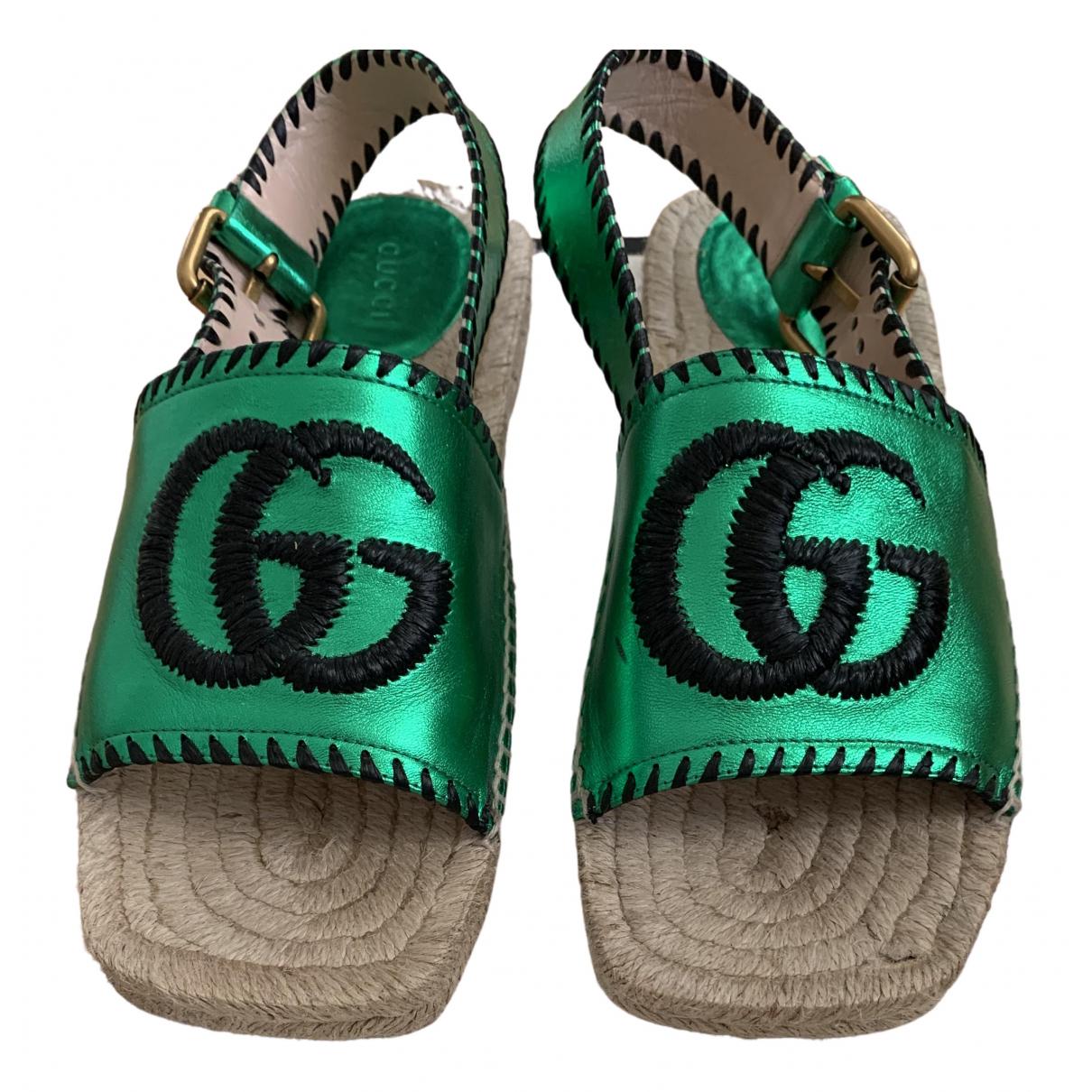 Gucci \N Espadrilles in  Gruen Leder