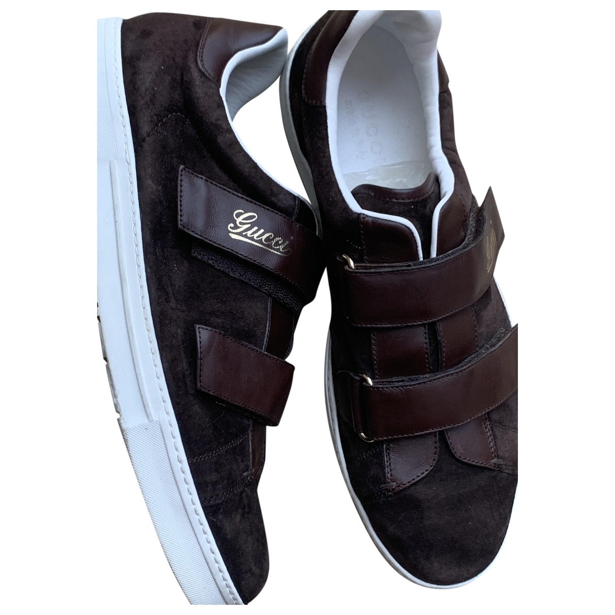 Gucci \N Brown Suede Trainers for Men 44 IT
