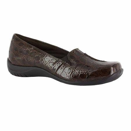 Easy Street Womens Purpose Slip-On Shoe, 7 1/2 Medium, Brown
