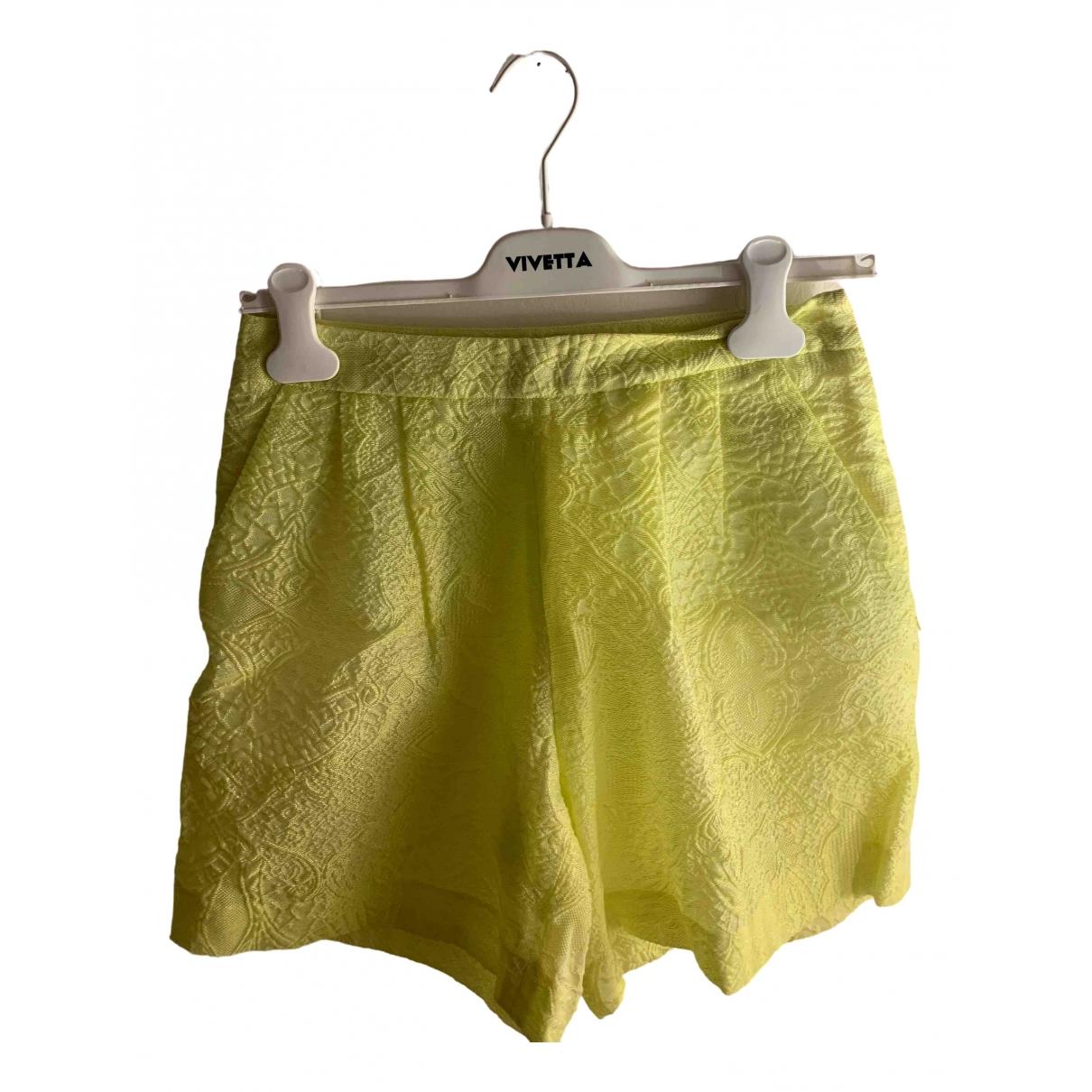 Vivetta - Short   pour femme en coton - elasthane - vert