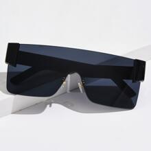 Men Flat Top Rimless Sunglasses