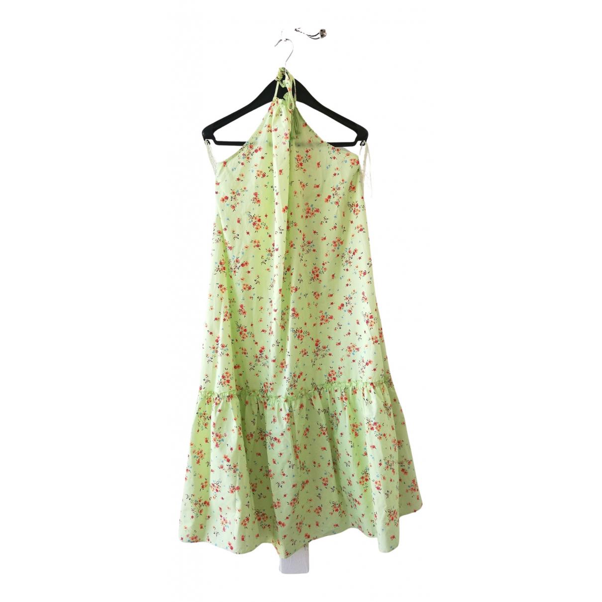 Zara - Robe   pour femme en coton - vert