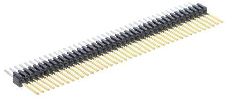 Samtec , TMS, 40 Way, 1 Row, Straight Pin Header