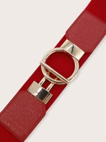O-ring Buckle Wide Belt
