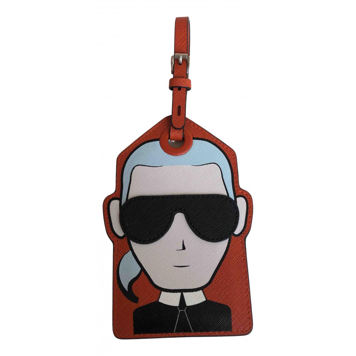 Karl Lagerfeld - Objets & Deco   pour lifestyle en cuir - orange