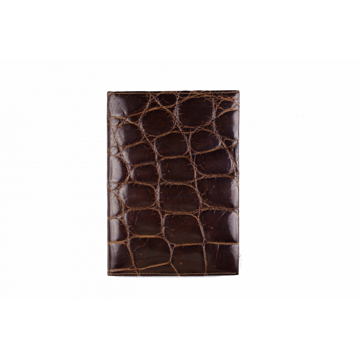 Non Signé / Unsigned \N Brown Crocodile Small bag, wallet & cases for Men \N