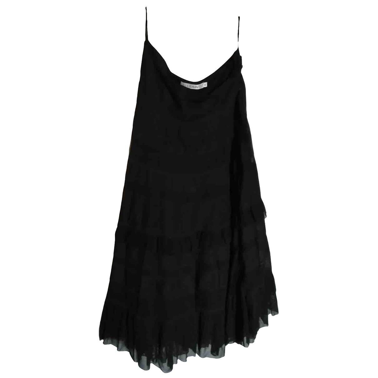 All Saints - Jupe   pour femme en coton - noir