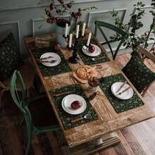 1 Stueck Tischset mit Schneeflocke Muster