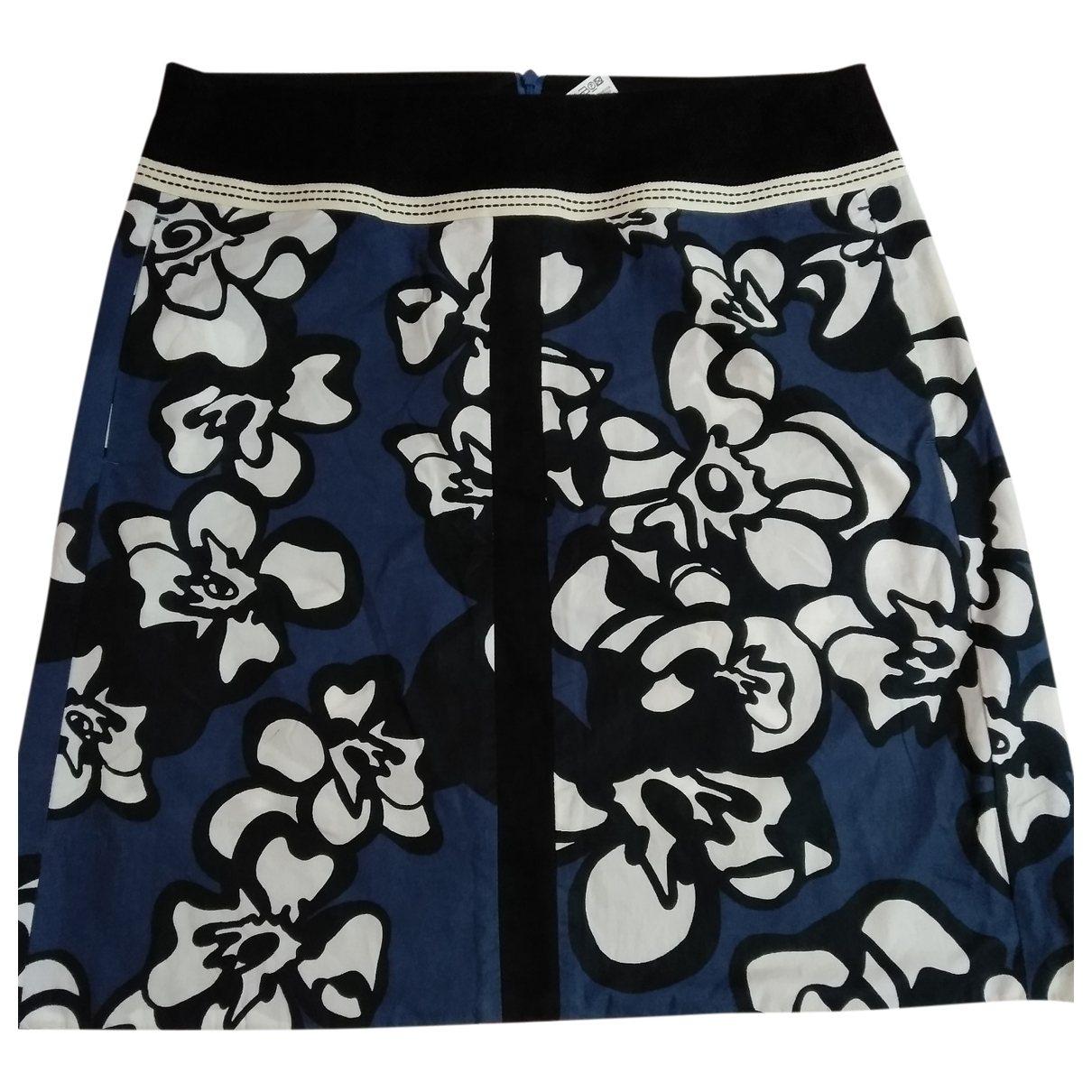 Max Mara 's \N Blue Cotton skirt for Women 42 FR