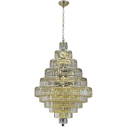 V2038D32G/SS Maxime 30 Light Gold Chandelier Clear Swarovski Elements